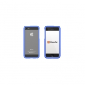 Capa Iphone 5 E 5S Aluminum Borders Xtrememac Azul