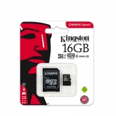 Cartao de Memoria Kingston Micro Sd 16Gb Canvas Select 80R Uhs-I  Classe 10  C/ Adaptador - Sdcs/16Gb
