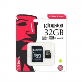 Cartao de Memoria Kingston Micro Sd 32Gb Canvas Select 80R Uhs-I  Classe 10  C/ Adaptador - Sdcs/32Gb