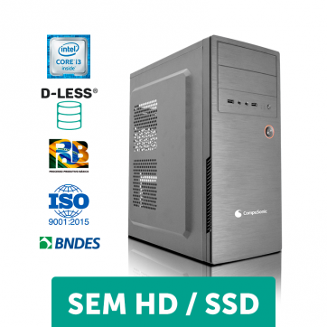 COMPUTADOR COMPUSONIC (I3 2120 / H61 / 4GB DDR3 / D-LESS / 200W)
