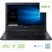 Notebook Acer A315-53-333H Intel Core I3 7020U 4Gb 1Tb 15,6
