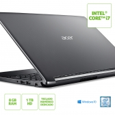 Notebook Acer A515-51-75Rv Intel Core I7 7500U 8Gb(2X4Gb) 1Tb 15,6 Windows 10 Home Cinza/preto
