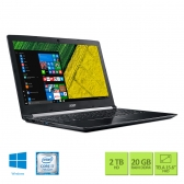 Notebook Acer A515-51G-70Pu Intel Core I7 7500U 20Gb(4+16Gb) 2Tb 15,6 Full Hd Geforce 940Mx 2Gb Windows 10 Home Preto