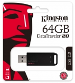 Pen Drive Kingston Datatraveler Dt20 Usb 2.0 64Gb - Dt20/64Gb